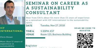 Seminar on career as a sustainability consultant