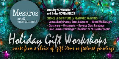 NOV23 Holiday Gift Workshop OR Canvas Paintings (Thankful or Santa Kisses)