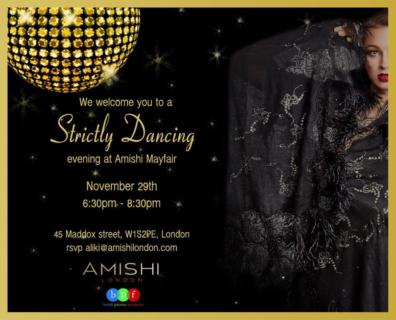 Strictly Come Dancing Evening at Amishi