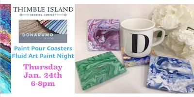 Paint Pour Coasters Fluid Art Paint Night