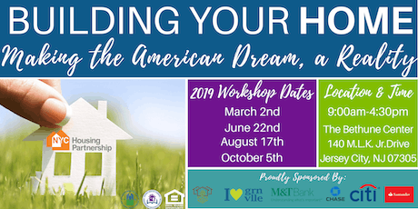 Housing Partnership Homebuyer Education Class Jersey City 2019 tickets