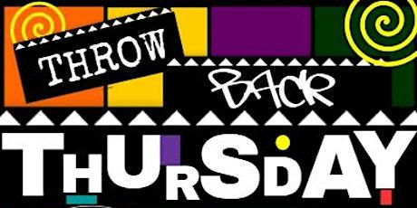 Throwback Thursday tickets