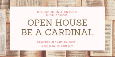 Open House at Bishop Snyder High School