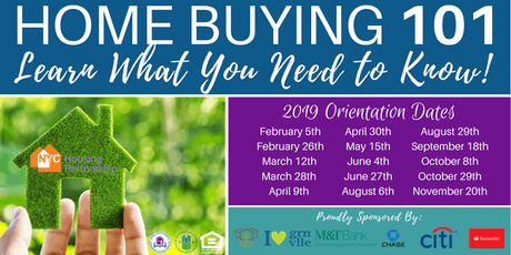 Housing Partnership Homebuyer Orientations Jersey City 2019 tickets
