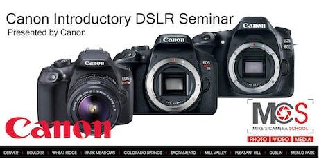Canon EOS DSLR Camera Seminar Presented by Canon- Dublin tickets