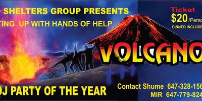 Volcano DJ Party, Belly Dance, Dinner and Booze