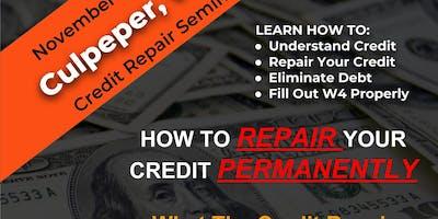 Credit Repair Seminar