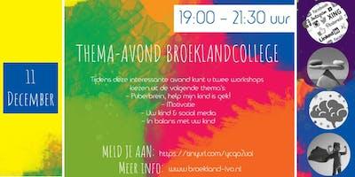 11e Thema-avond Broeklandcollege 2019
