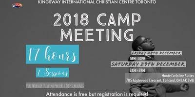 2018 Camp Meeting - KICC Toronto Church Retreat