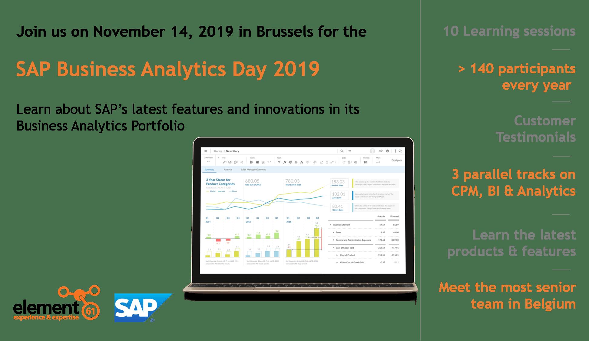 SAP Business Analytics Day 2019