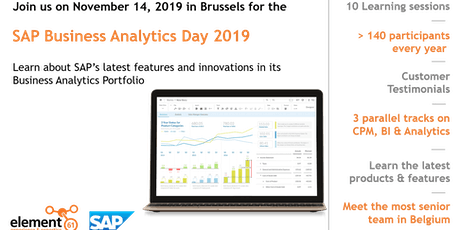 SAP Business Analytics Day 2019 billets