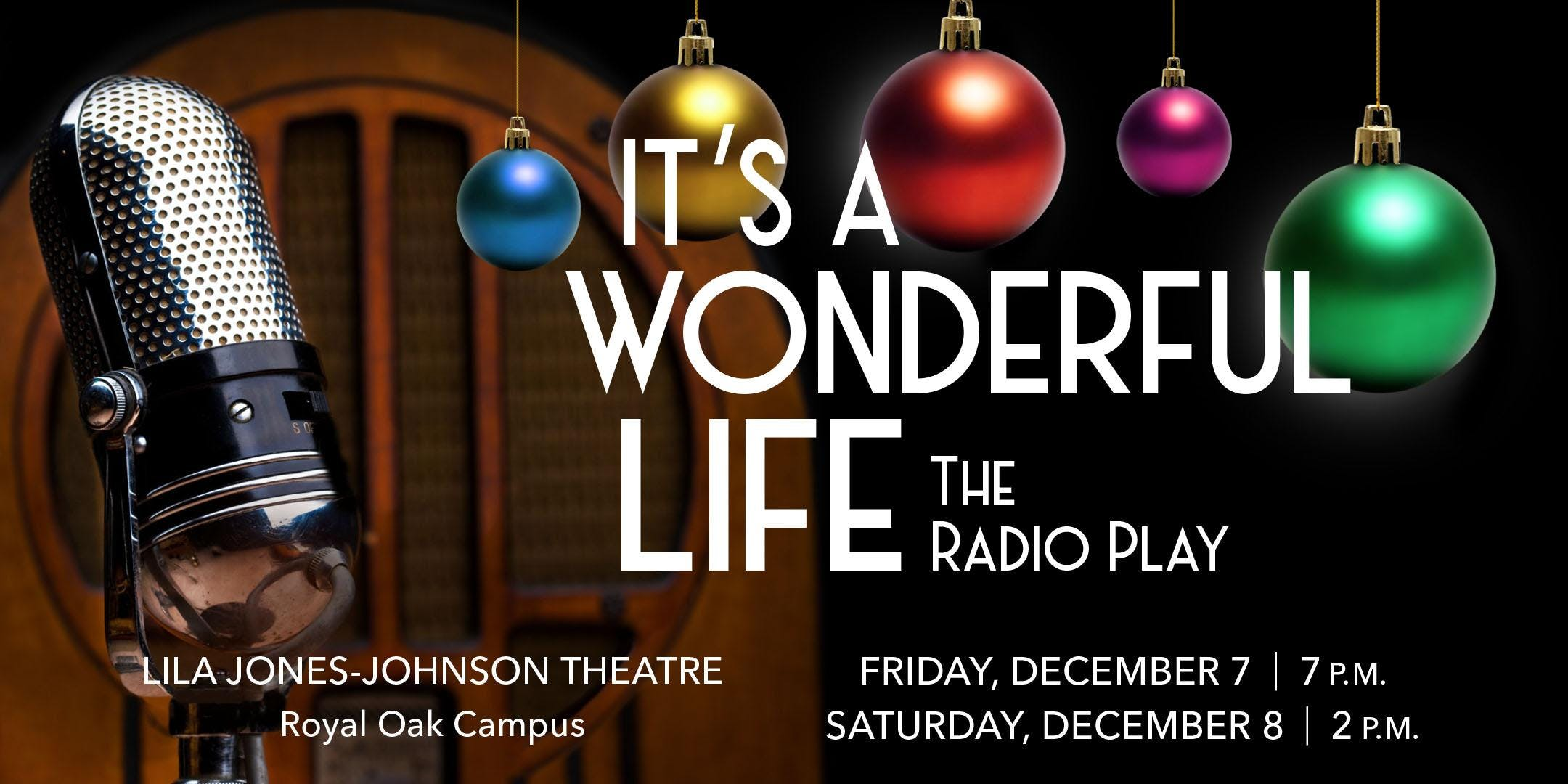 Occ Royal Oak Campus Map.Its A Wonderful Life The Radio Play At Oakland Community College