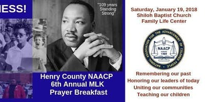 Henry County  6th Annual Martin Luther King Prayer Breakfast