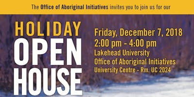 Aboriginal Initiatives Holiday Open House