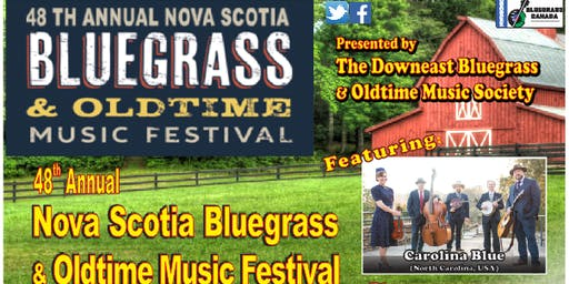 48th Annual Nova Scotia Bluegrass & Oldtime Music Festival July 25-28, 2019