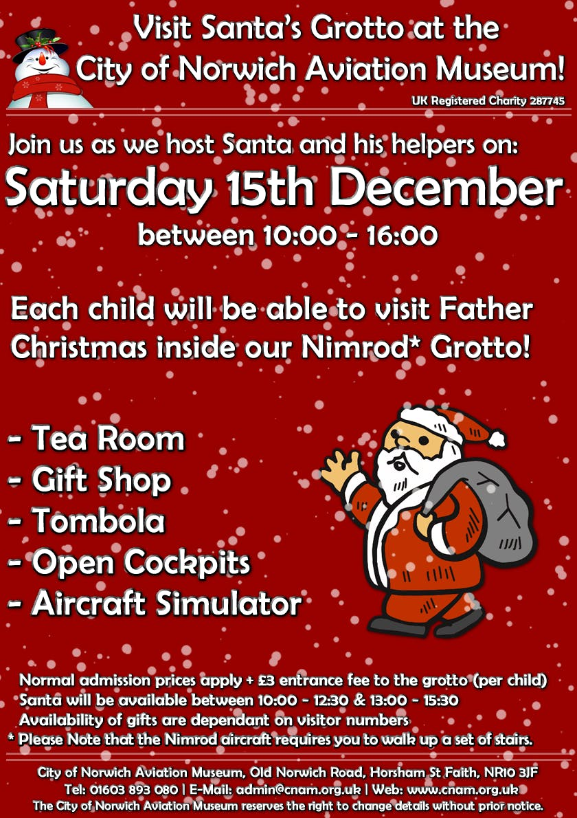 Father Christmas lands at Norwich Aviation Museum! | Horsham Saint Faith