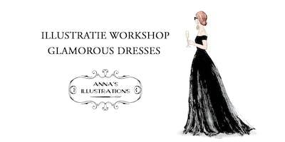 Workshop mode illustraties - thema glamorous dresses