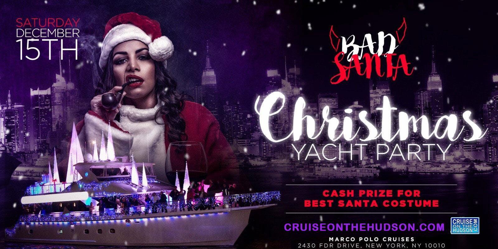 Bad Santa Christmas Party NYC Holiday Cruise - Jewel Yacht NYC 2018 ...