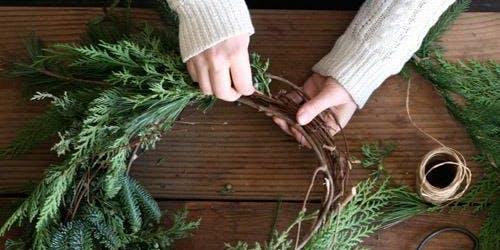 Winter Solstice Wine and Wreath