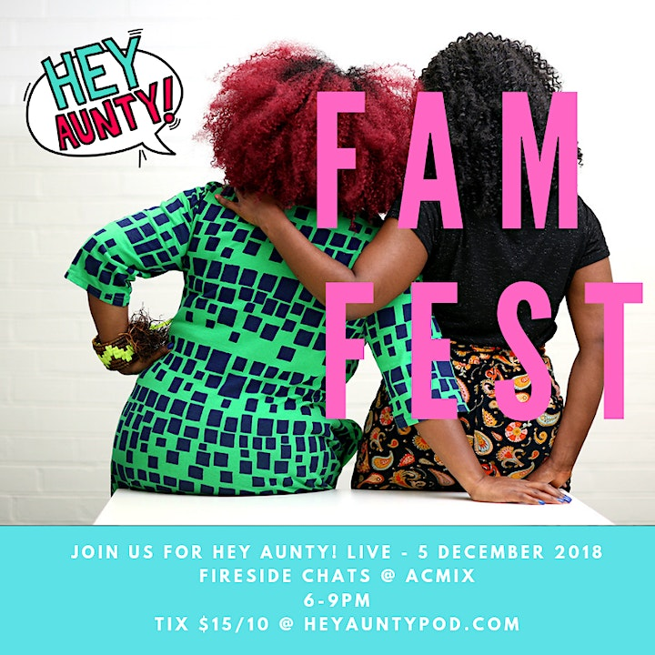 Hey Aunty! Fireside Chats - Live Show & Listening Party image