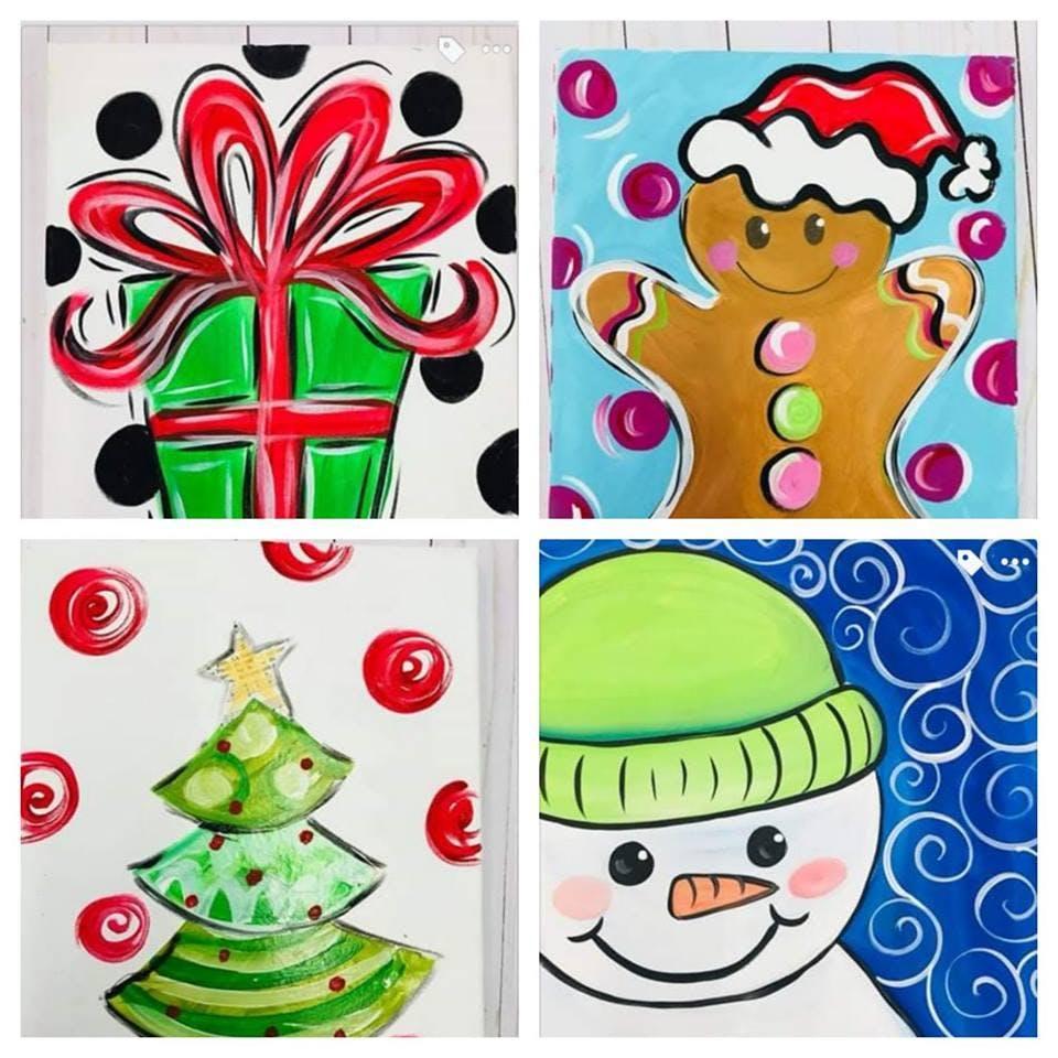 Christmas Paintings For Kids.Kids And Adult Christmas Paintings At Hootenanny Paint