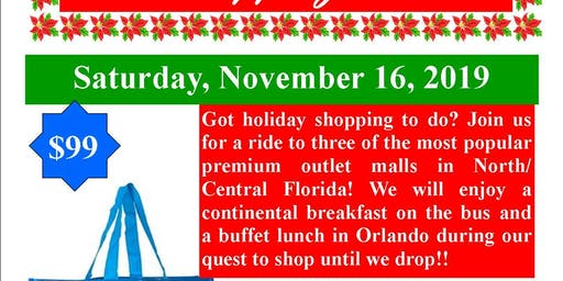 Shop 'Til You Drop- Holiday Bus Trip