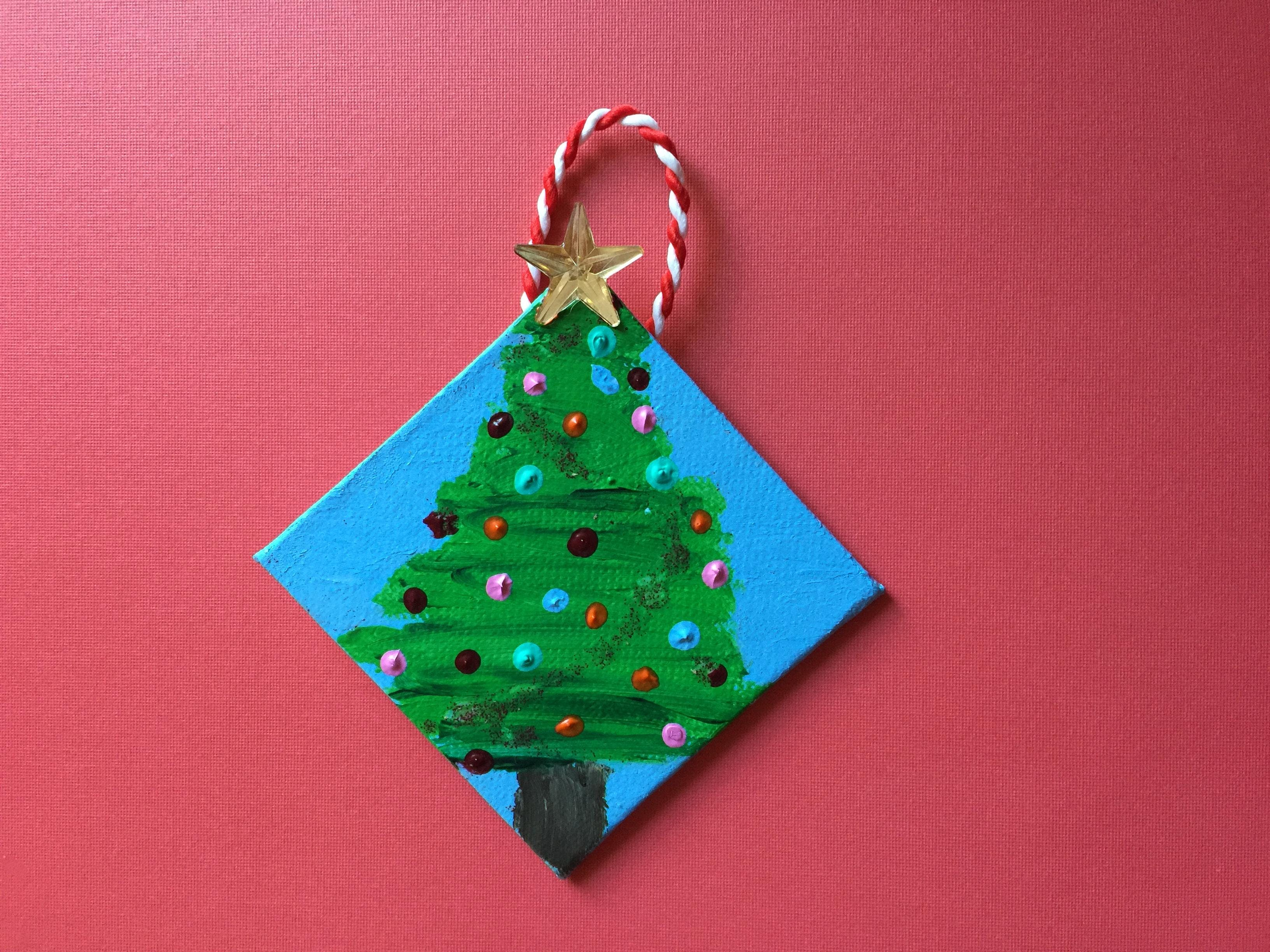 kids class make your own christmas tree ornament