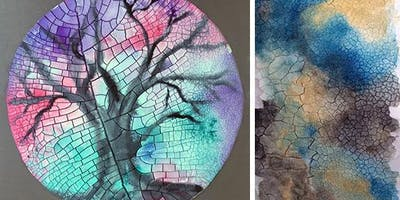 Mosaic Crackle Paste Paintings with Jen Livia