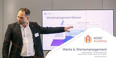 Werte- und Wertemanagement Tagesworkshop, Berlin, 07.11.19