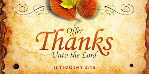 Thanksgiving Eve Worship Service