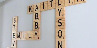 Craft Class: DIY Scrabble Tile Wall Decor