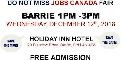 FREE: Barrie Job Fair – December 12th, 2018