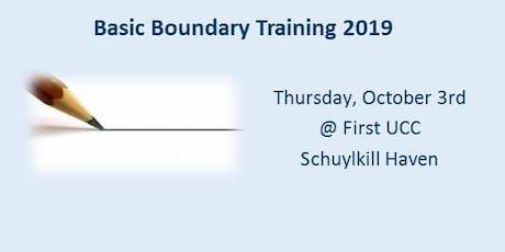 Basic Boundary Training - October 3, 2019 tickets