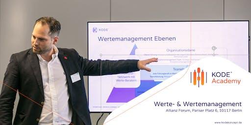 Werte und Wertemanagement - Tagesworkshop, Berlin, 07.11.2019
