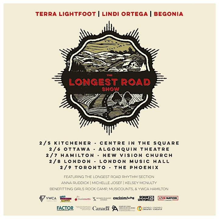 The Longest Road Show ft. Terra Lightfoot + Lindi Ortega + Begonia image