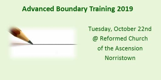 Advanced Boundary Training - October 22, 2019
