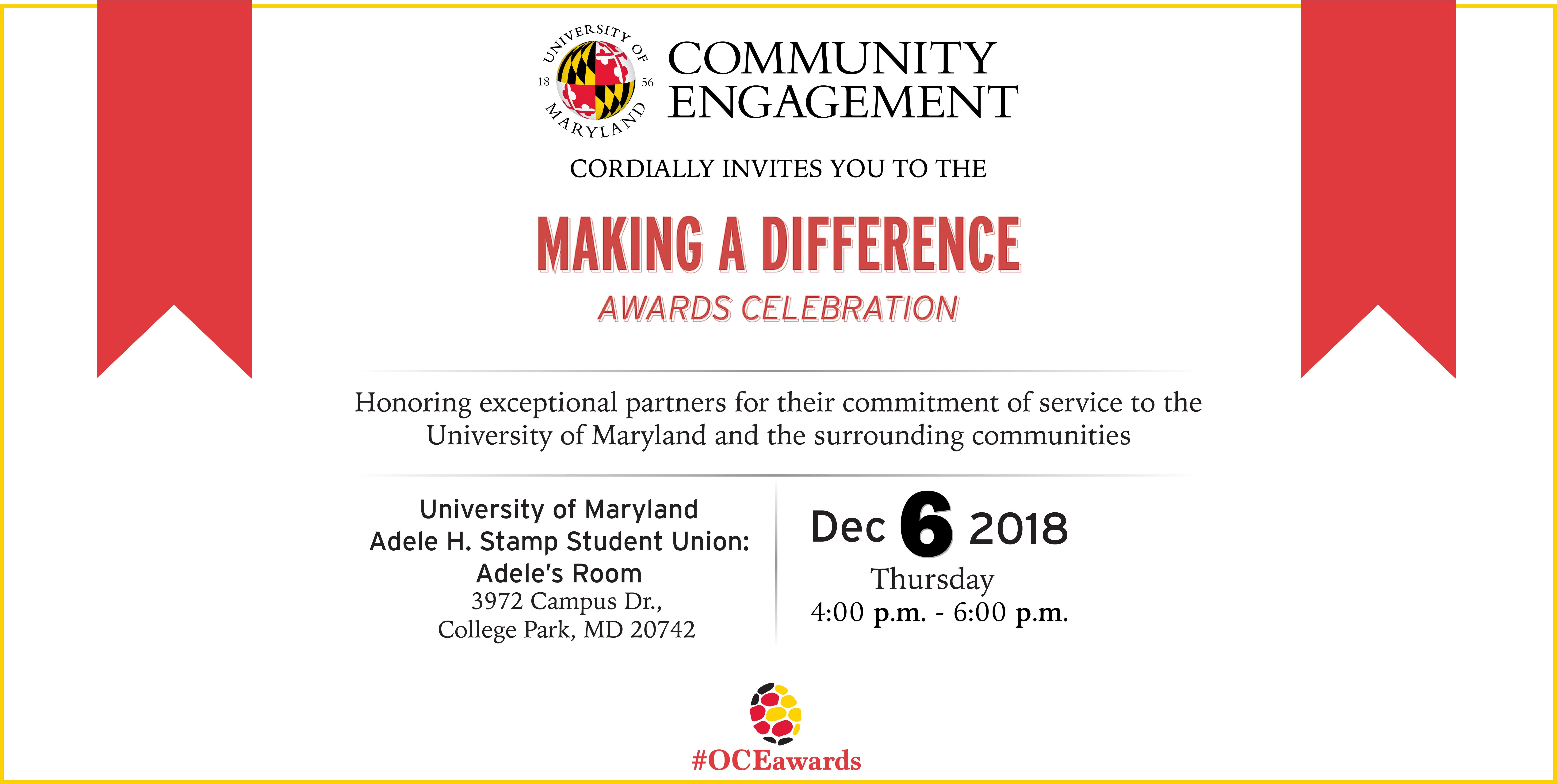 2018 Making A Difference Awards Celebration