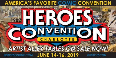 HEROES CONVENTION 2019 :: ARTIST ALLEY TABLE