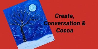 Paint Night:  Create, Conversation & Cocoa - Windy Winter Night