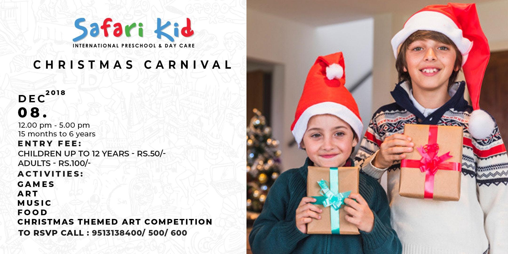 Safari Kid Christmas Carnival - 8 DEC 2018