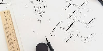 Plymouth College of Art - 10 Week Introduction to Modern Calligraphy (Jan 2019)
