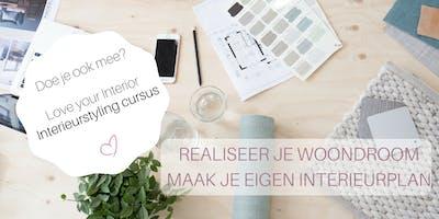 4-weekse cursus Realiseer je woondroom, maak je eigen interieurplan