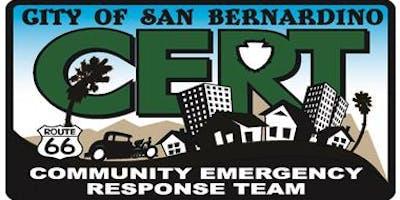 CERT Training-Sponsored by the San Bernardino Police Department