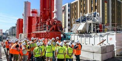 Visite du chantier du Tunnel Vivier Merle (R-S)
