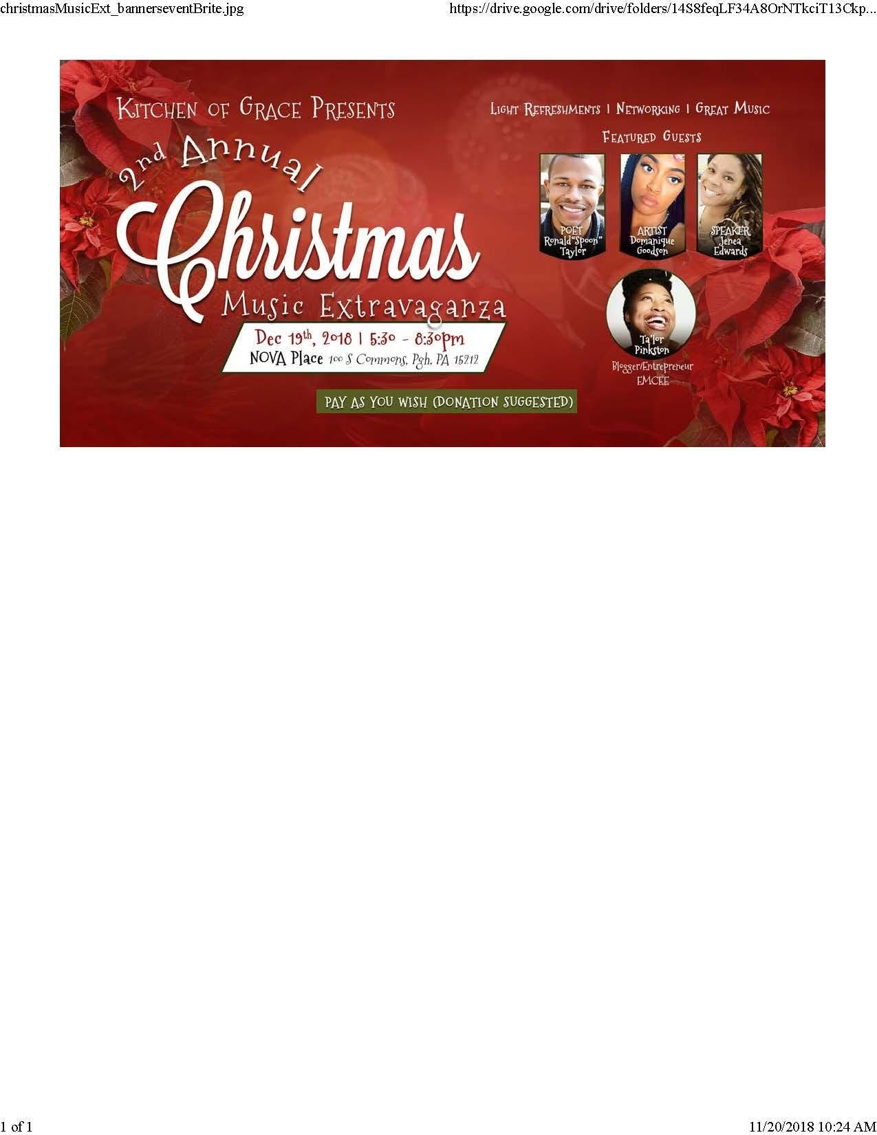 Kitchen of Grace 2nd Annual Christmas Music E