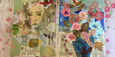 Collage Art Canvas Workshop