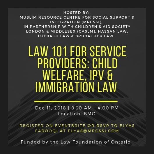 LAW 101 FOR SERVICE PROVIDERS:CHILD WELFARE,