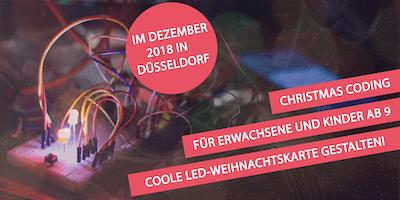 Christmas Coding Düsseldorf - Coole LED-Weihnachtskarte basteln!