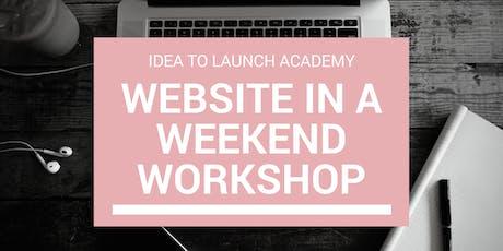 Build A WordPress Website In A Weekend - Workshop tickets