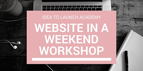 Build A WordPress Website In A Weekend - Workshop tickets